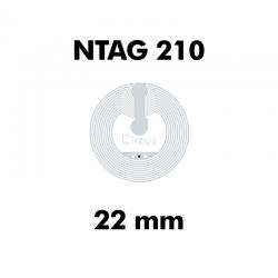 CIRCUS NTAG210 WET CLEAR ø22mm