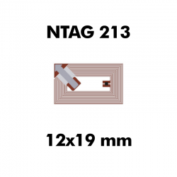 Ntag216 28mm Square Stickers