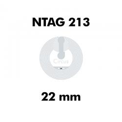 CIRCUS NTAG213 WET CLEAR ø22mm