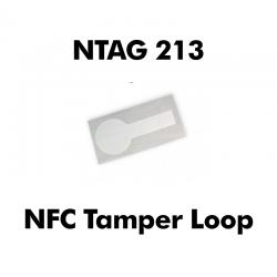 White Tamper Loop NFC...