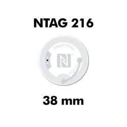 Clear NFC Stickers NTAG216...
